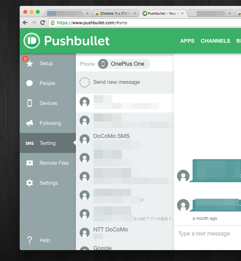 Extension pushbullet 002