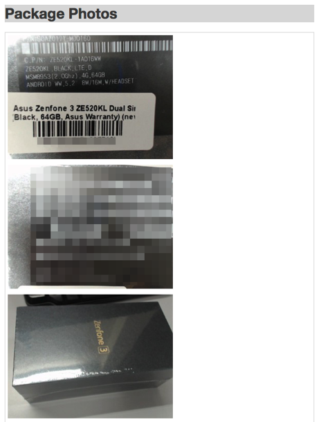 Zenfone ipmart package photo