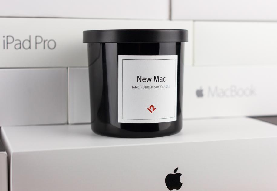 「新品のMac」の匂いがするロウソクが発売