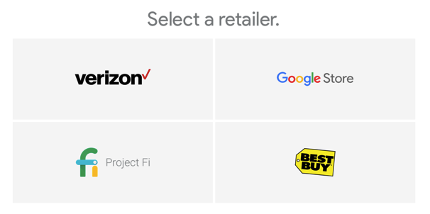 Pixel google store link