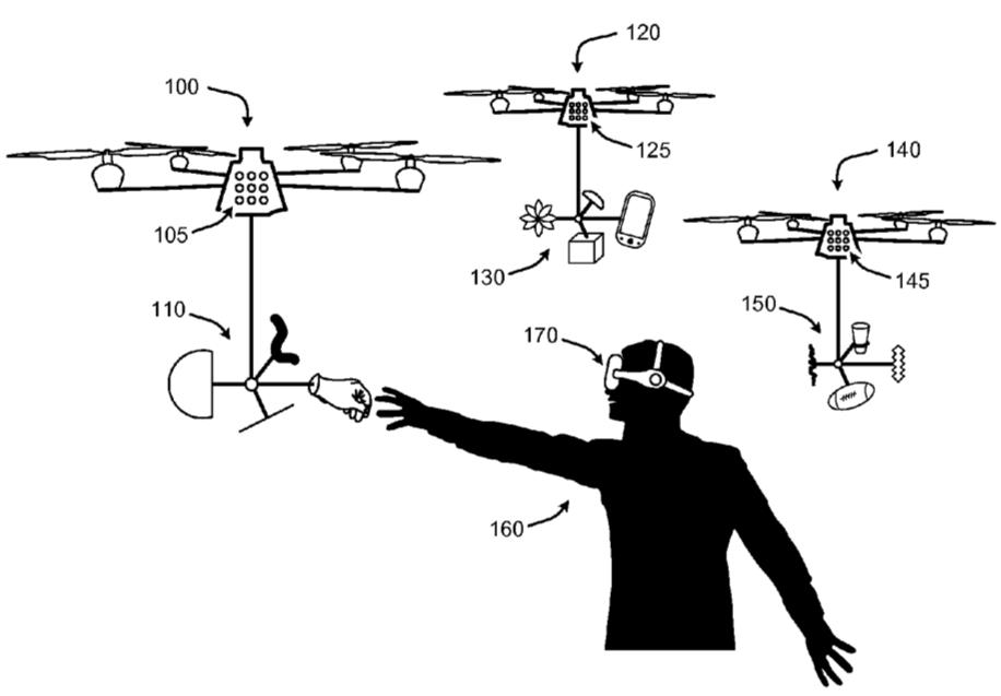 MicrosoftがVRを「触る」ためのドローンの特許を取得