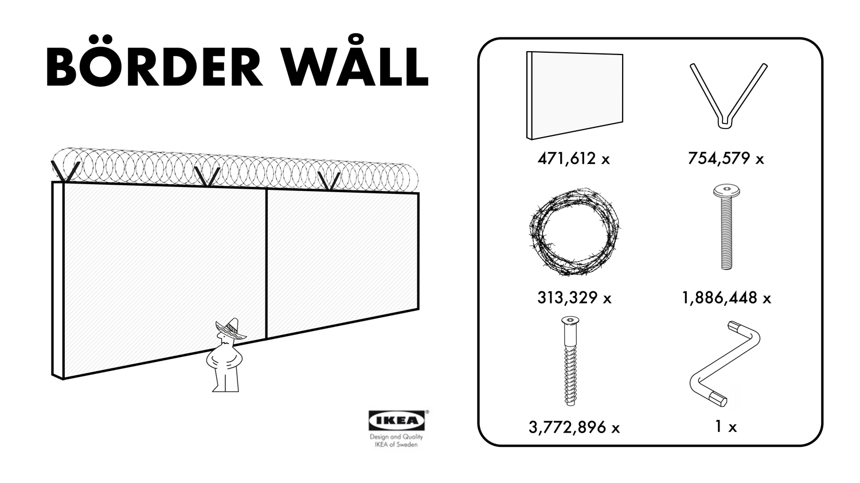 家具大手IKEA、メキシコ国境の壁「Börder Wåll」を発売